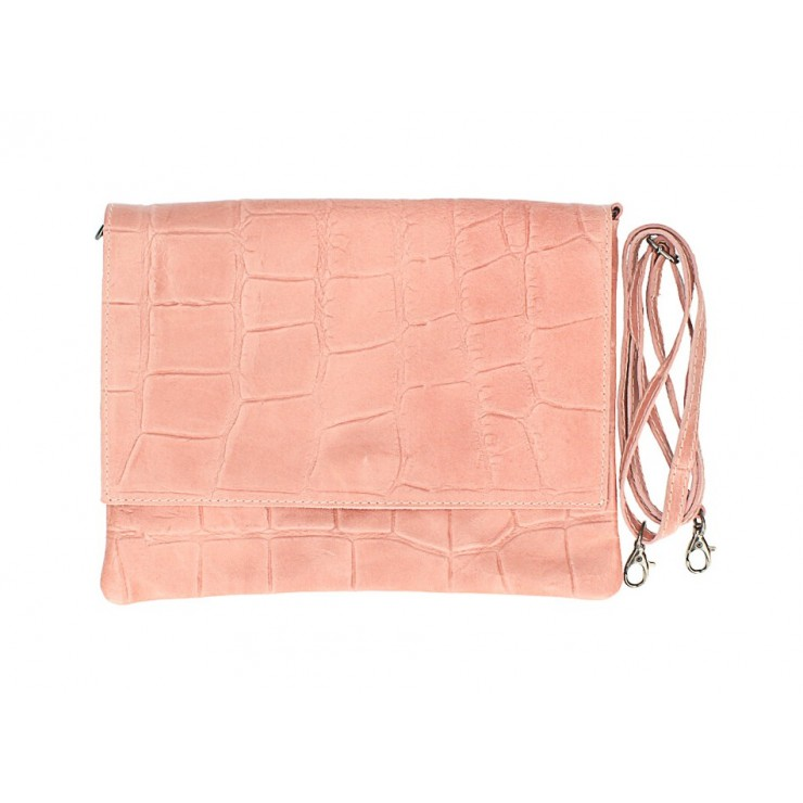 Genuine Leather shoulder bag MI60 pink Made in Italy