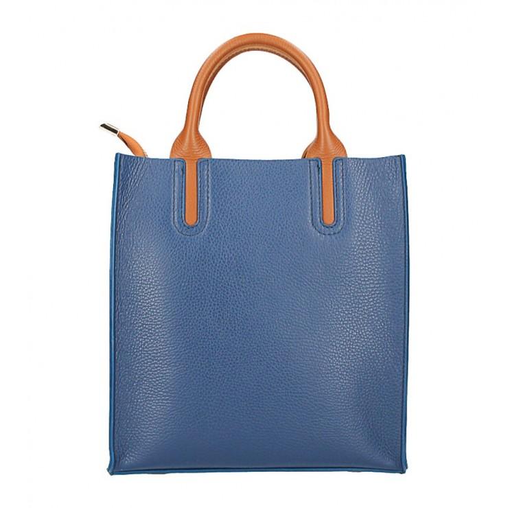 Kožená kabelka MI60 modrá Made in Italy