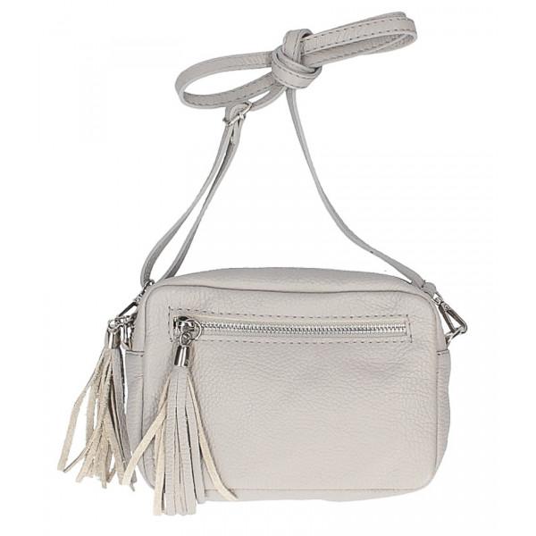 Dámska kožená kabelka na rameno 760 šedá