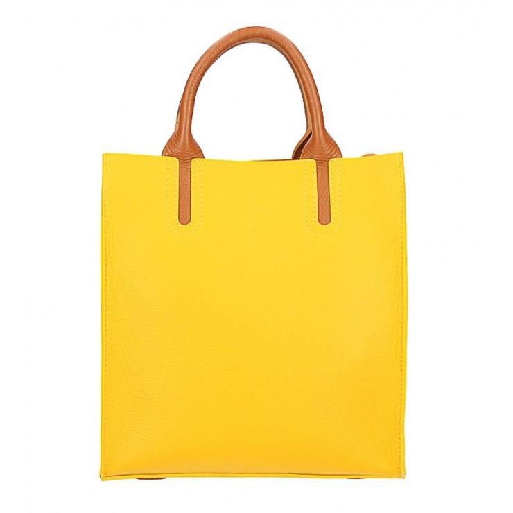 Kožená kabelka MI60 žltá Made in Italy