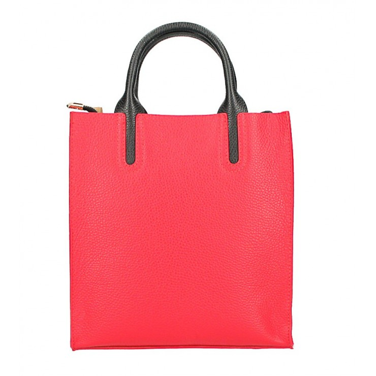 Kožená kabelka MI60 červená Made in Italy