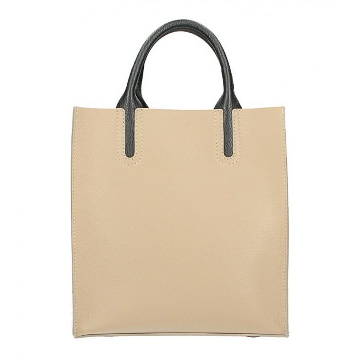 Kožená kabelka MI60 šedohnedá Made in Italy