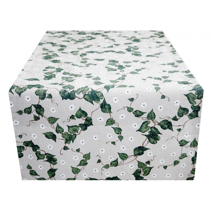 Běhoun na stůl zelené listí Made in Italy