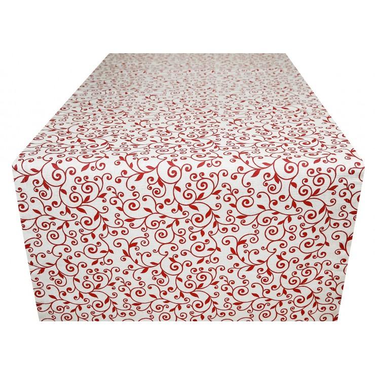 Běhoun na stůl rudé listí Made in Italy