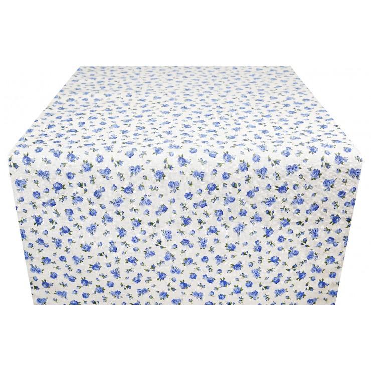 Běhoun na stůl modré růže Made in Italy