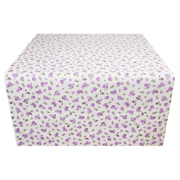 Běhoun na stůl fialové růže Made in Italy