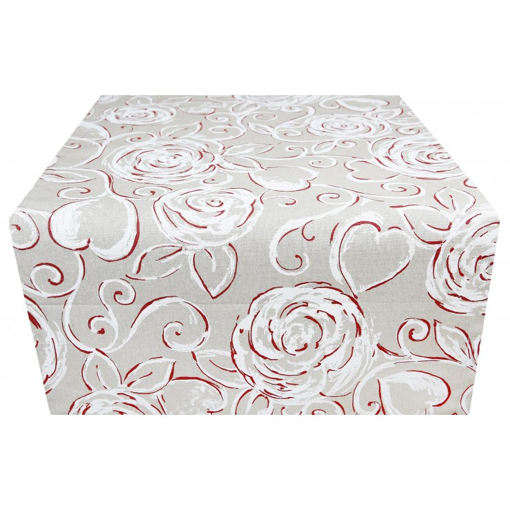 Runner red Peonies Made in Italy
