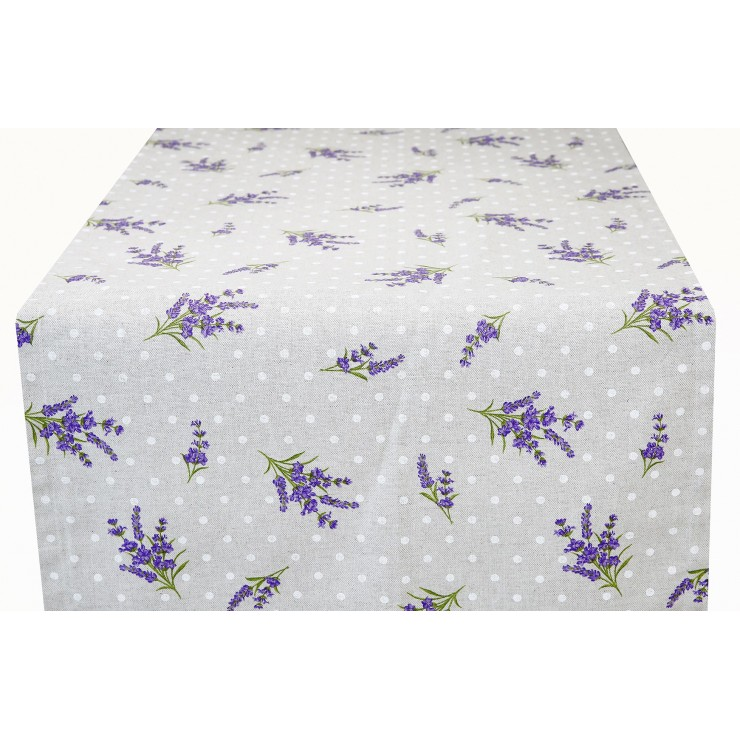 Runner Lavender with dots  Made in Italy