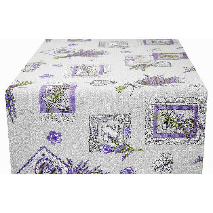 Runner Lavender bouquet Made in Italy