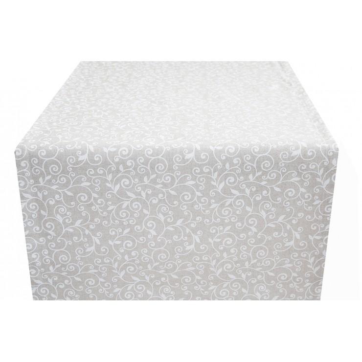 Behúň na stôl biele lístie Made in Italy