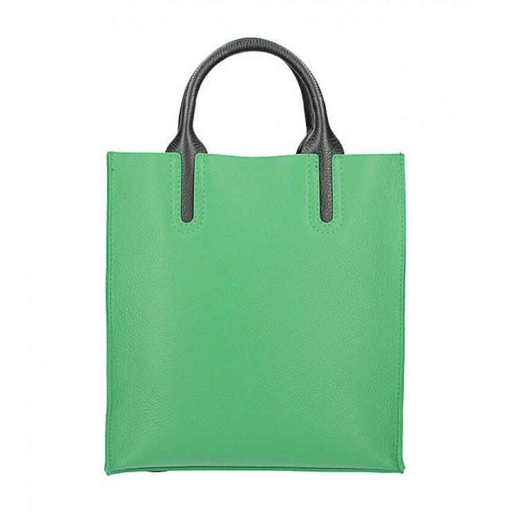 Kožená kabelka MI60 zelená Made in Italy