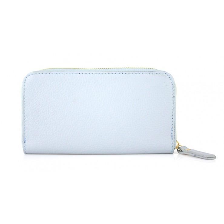 Kožená peňaženka 820B nebesky modrá
