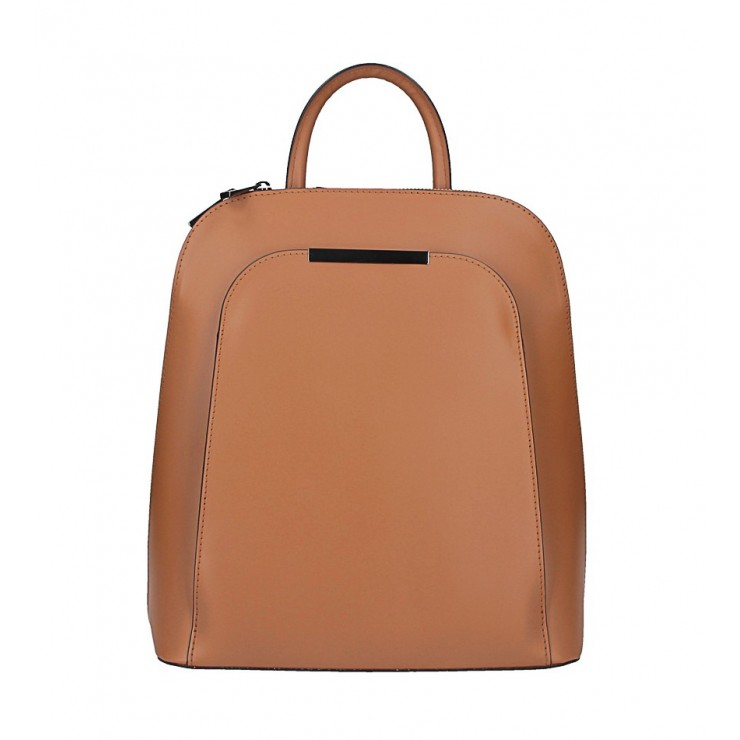 Leather backpack 1488 cognac Made in Italy