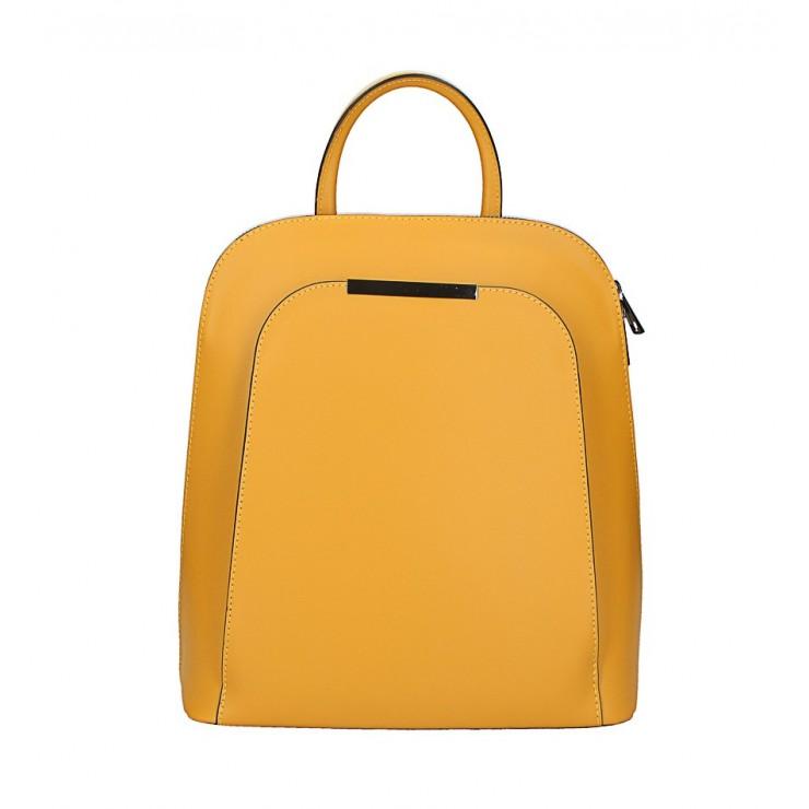 Kožený batoh 1488 okrový Made in Italy