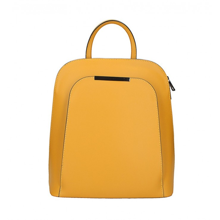 Leather backpack 1488 mustard Made in Italy