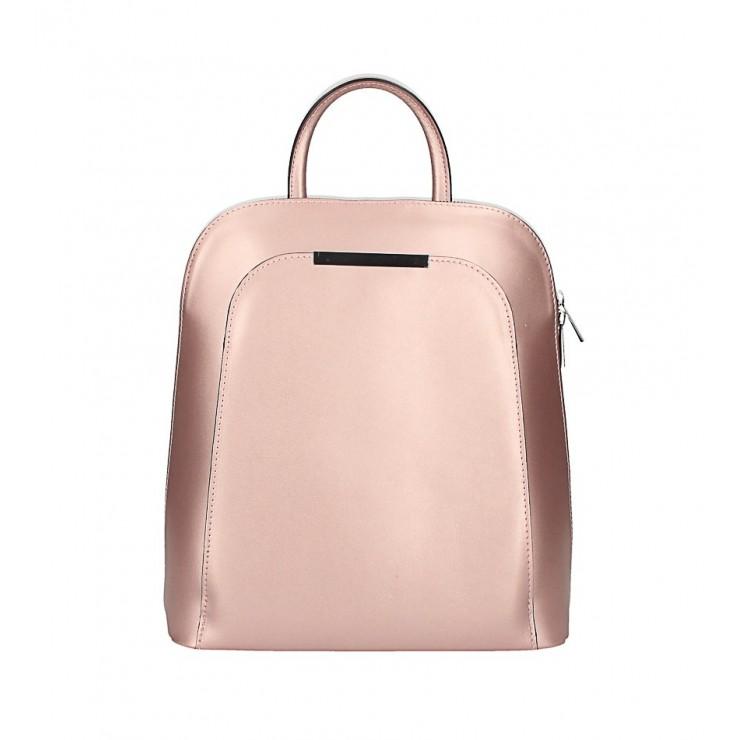 Kožený batoh 1488 ružovo zlatý Made in Italy