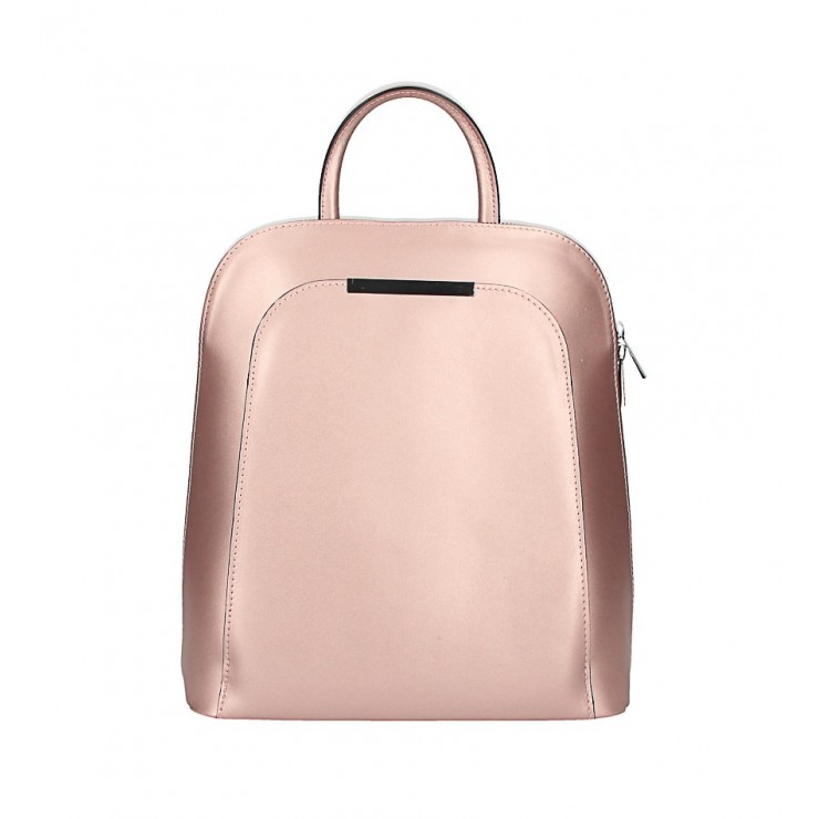 Leather backpack 1488 pink gold Made in Italy