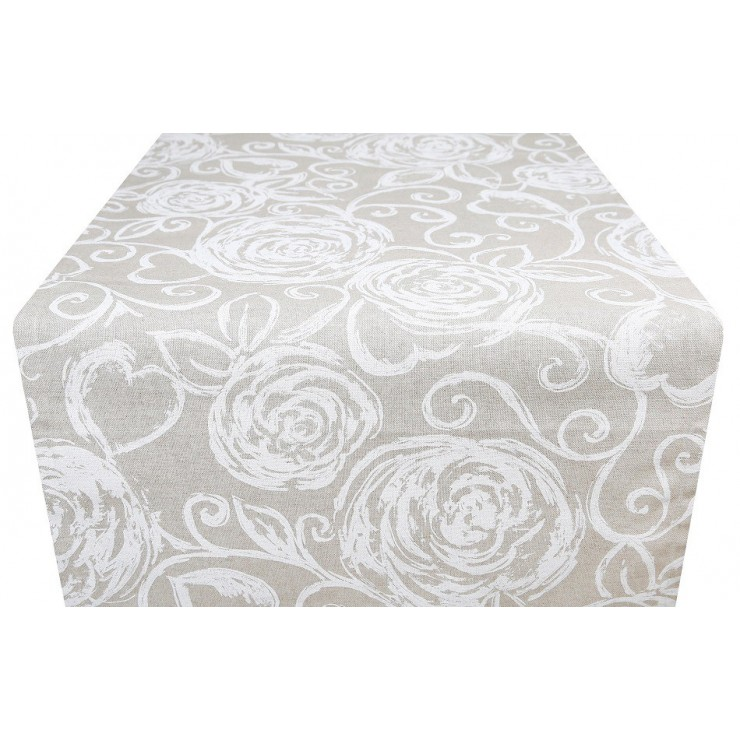 Runner white Peonies Made in Italy