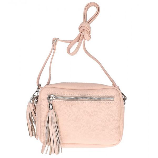 c2235cd72b Dámska kožená kabelka na rameno 5338 ružová - MONDO ITALIA s.r.o.