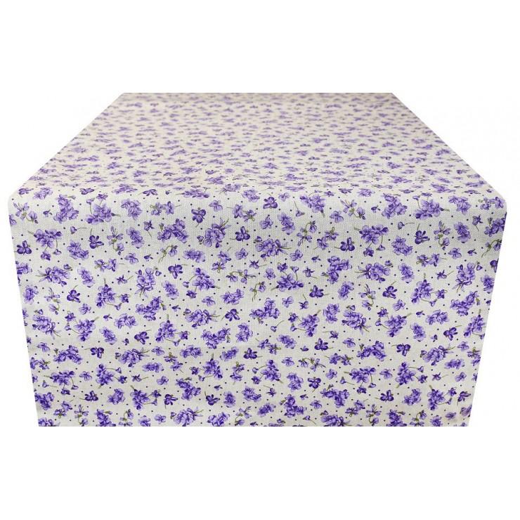 Běhoun na stůl fialové květy Made in Italy