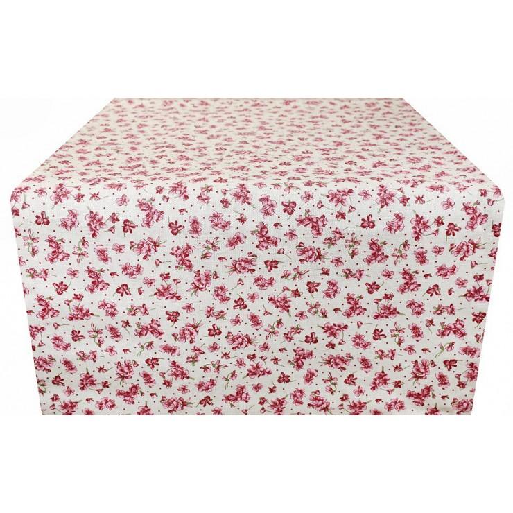 Behúň na stôl kvety fuchsia Made in Italy