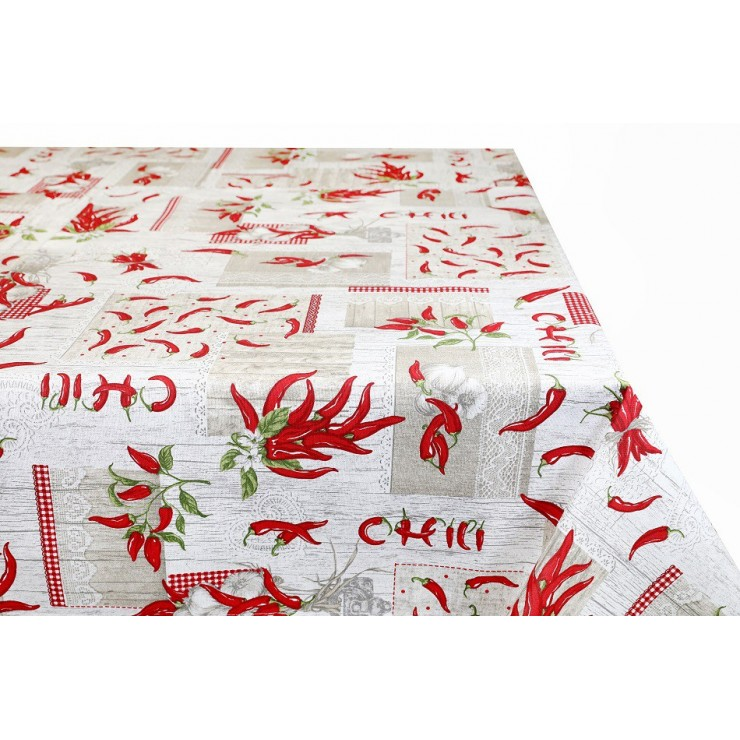 Cotton tablecloth 759CH Made in Italy