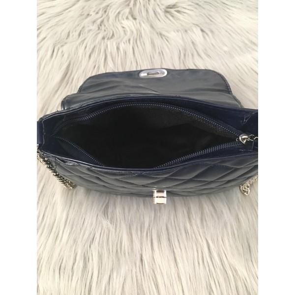 Dámska kabelka 1026 modrá Made in Italy Modrá