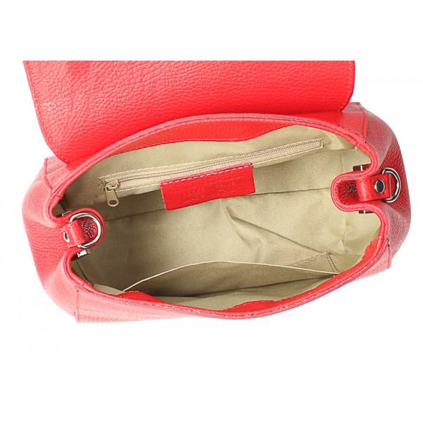 Kožená kabelka MI249 béžová Made in Italy Béžová