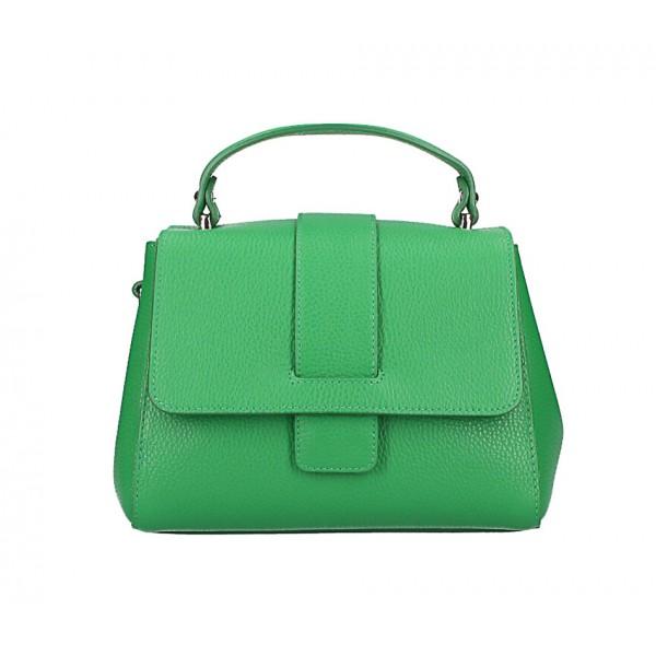 Kožená kabelka MI249 zelená Made in Italy Zelená