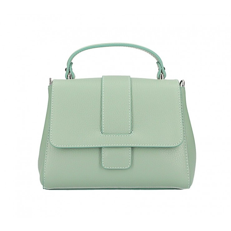 Woman Leather Handbag MI249 mint Made in italy
