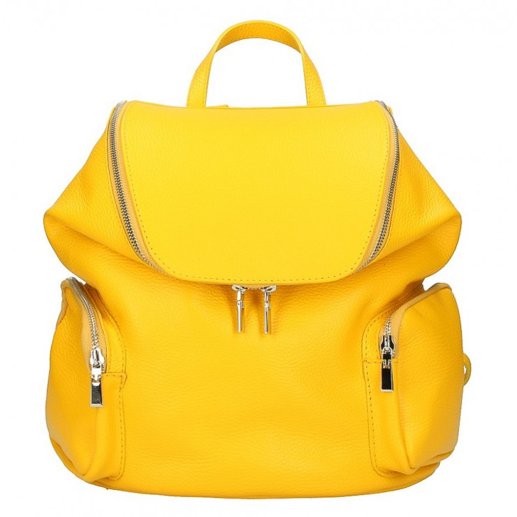 Leather backpack 5339 yellow