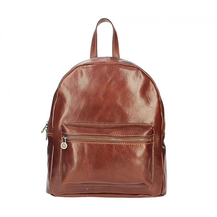 Kožený batoh 5340 hnedý Made in Italy