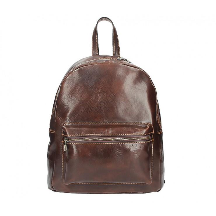 Kožený batoh 5340 tmavohnedý