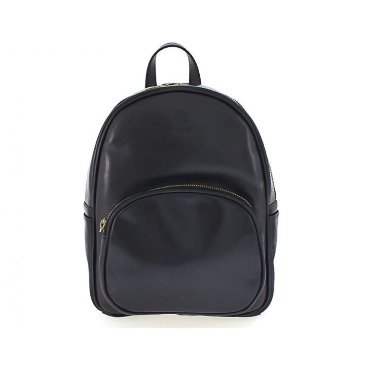 Kožený batoh 5341 čierny
