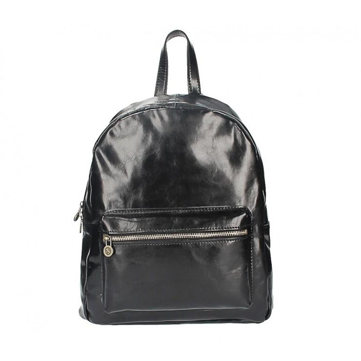 Kožený batoh 5340 čierny