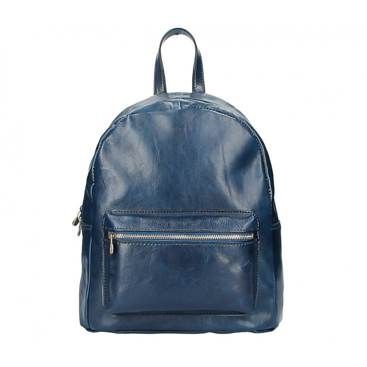 Leather backpack 5340 blue