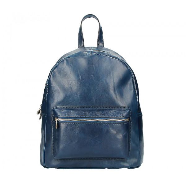 Kožený batoh 5340 modrý