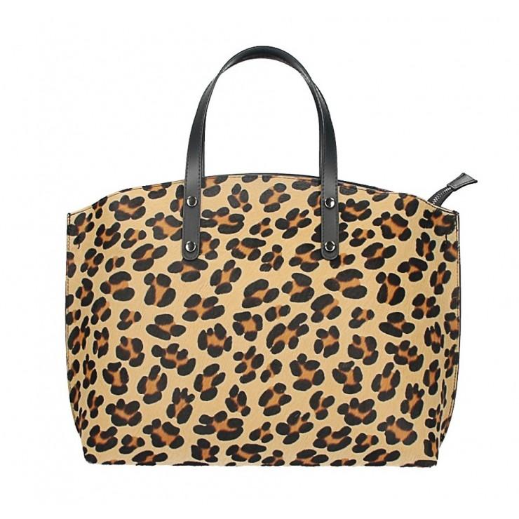 Kožená kabelka MI423 leopard Made in Italy