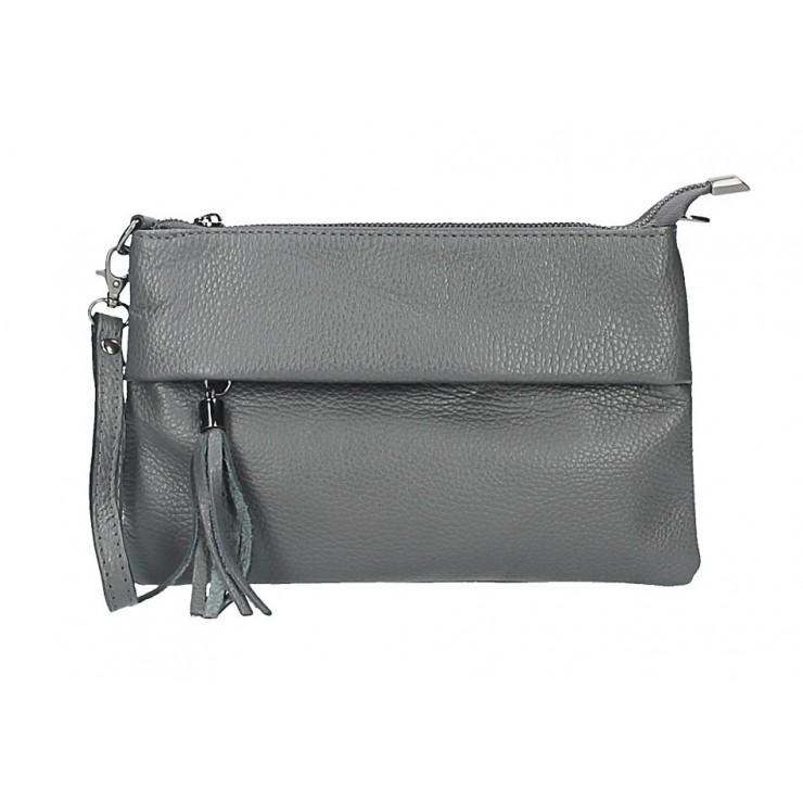 Genuine Leather Handbag 1492 dark gray