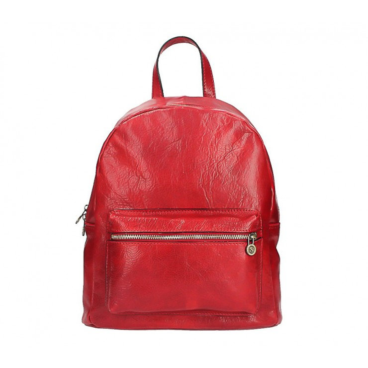 Leather backpack 5340 red