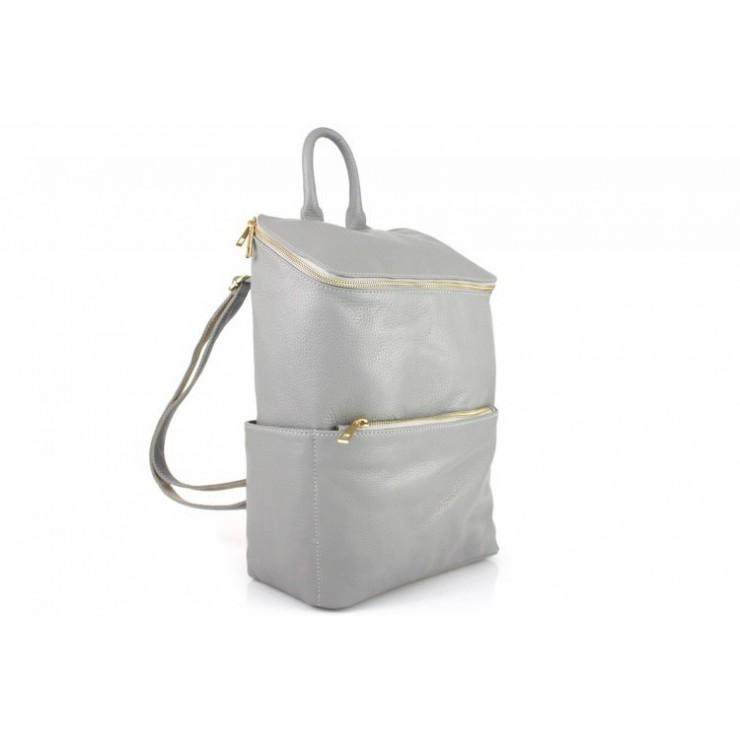 Kožený batoh 789 šedý Made in Italy