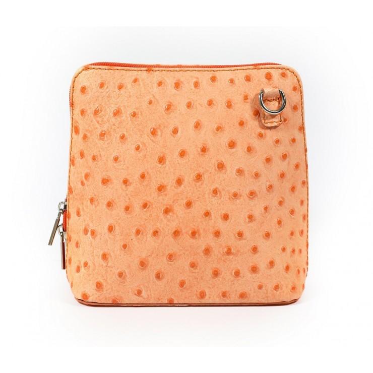 Genuine leather messenger bag 603 orange