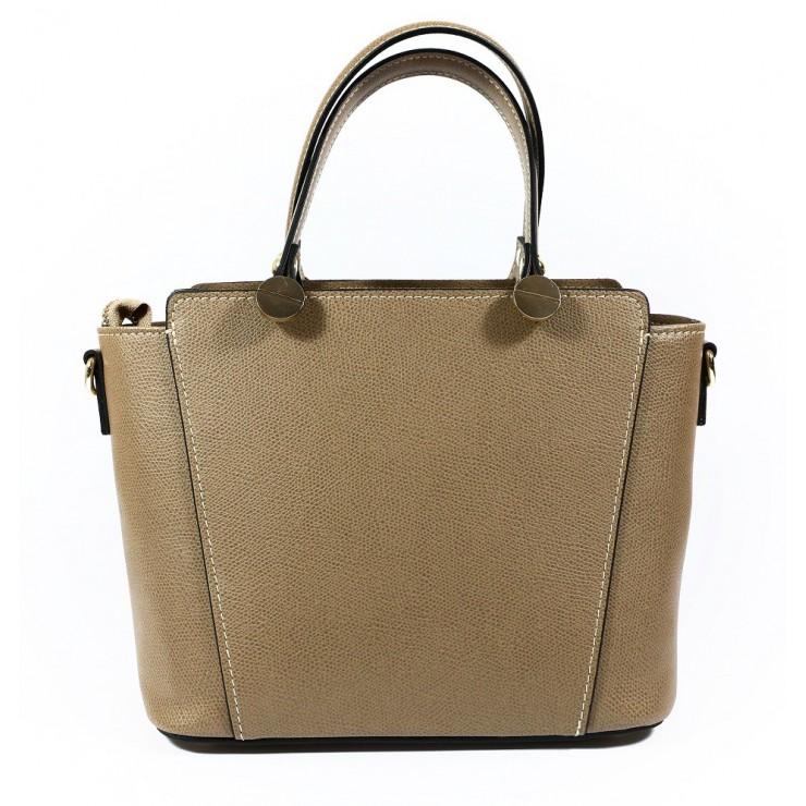Genuine Leather Handbag 1461 dark taupe