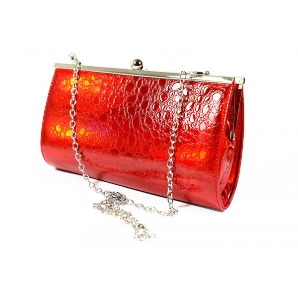 Spoločenská kabelka 1150G červená Dudlin Červená