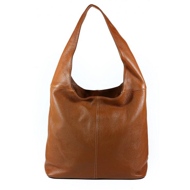 Koňaková kožená kabelka na rameno 590 MADE IN ITALY
