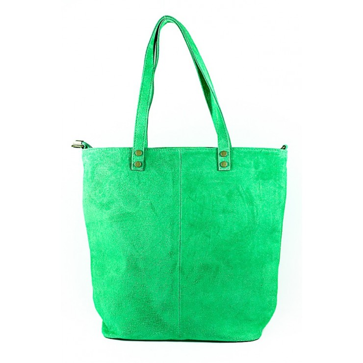 Genuine Leather Maxi Bag 768 green MADE IN ITALY