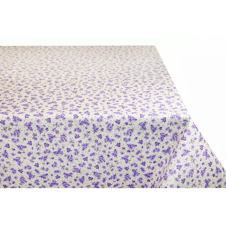 Tablecloth purple violets Made in Italy