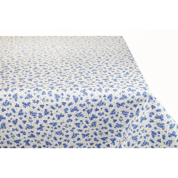 Tablecloth blue violets Made in Italy