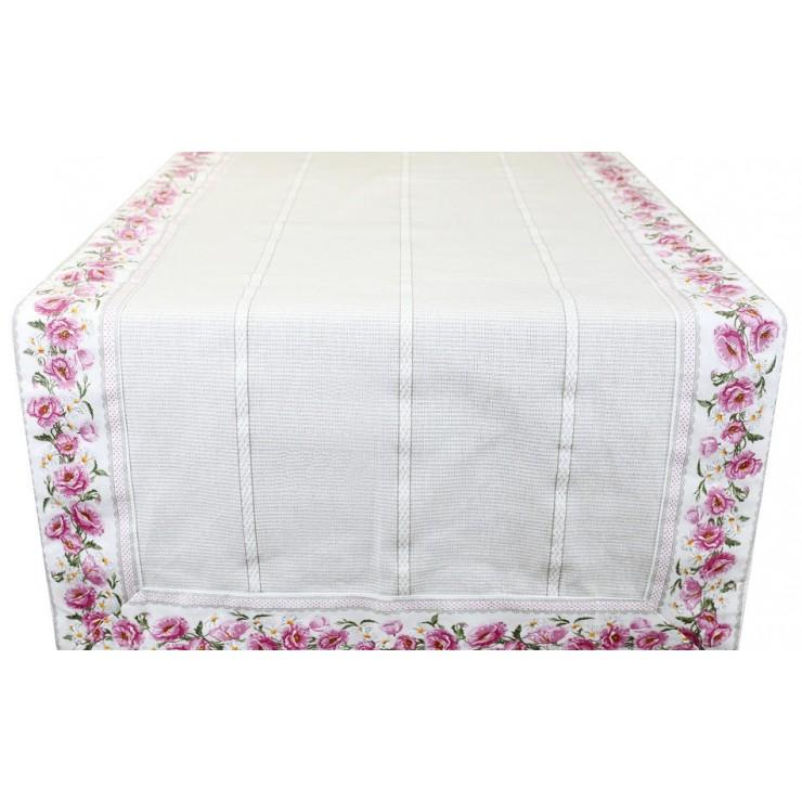 Běhoun na stůl květy