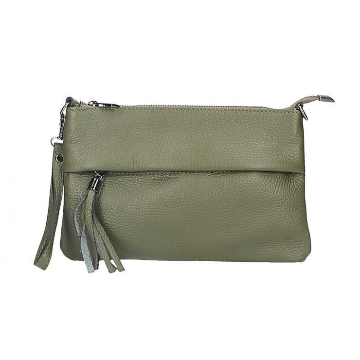 Kožená kabelka 1492 vojenska zelená Mae in Italy